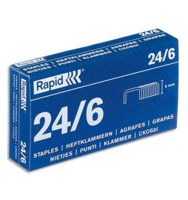 RAPID Boîte de 5000 agrafes N°24/6 galvanisées