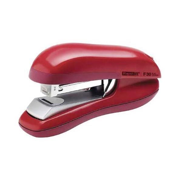 RAPID Agrafeuse F30 Flat Clinch rouge, capacité 30 feuilles, agrafes 24/6-26/6