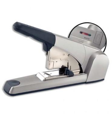 LEITZ Agrafeuse spécifique socle capacité 1 à 60 feuilles technologie Flatclinch. Coloris gris métal