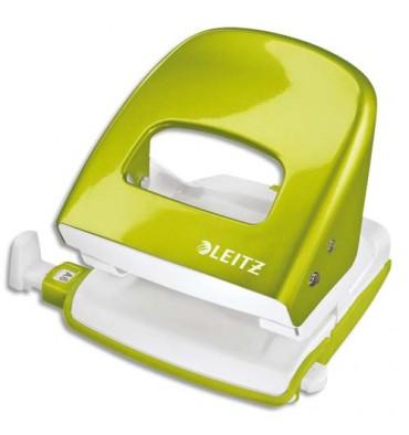 LEITZ Perforateur 2 trous WOW coloris vert anis métalisé, capacité 30 feuilles
