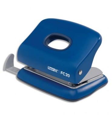 RAPID Perforateur FC20 2 trous, coloris bleu, capacité 20 feuilles
