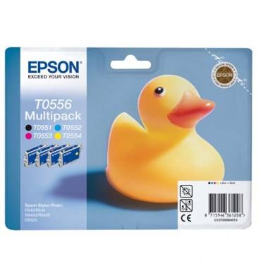 EPSON Pack de 4 cartouches jet d'encre T0556