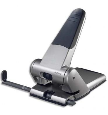 LEITZ Perforateur 2 trous, coloris gris métal, capacité 65 feuilles