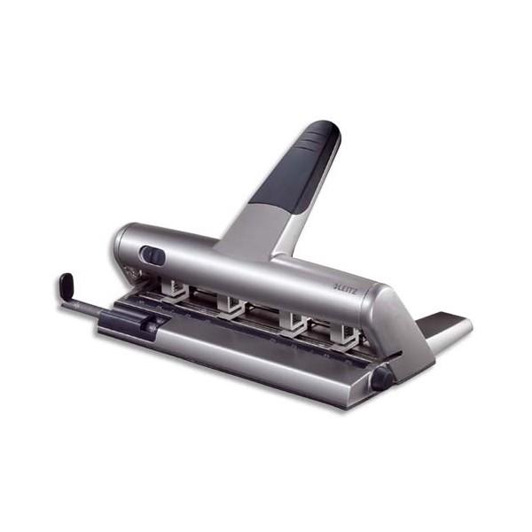 LEITZ Perforateur 4 trous, coloris gris clair et gris foncé, capacité 30 feuilles.