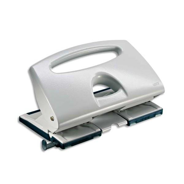 LEITZ Perforateur 4 trous, coloris gris, capacité 40 feuilles