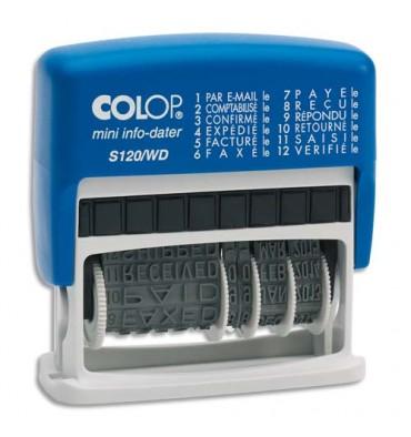 COLOP Dateur multiformules 12 formules à encrage automatique S120WD - hauteur des caractères 4 mm