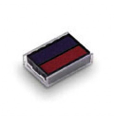 TRODAT Lot de 10 recharges pré-encrées bleues/rouges 6/4750/2 pour PRINTY 4750L1 / 4750L2 / 4750L8