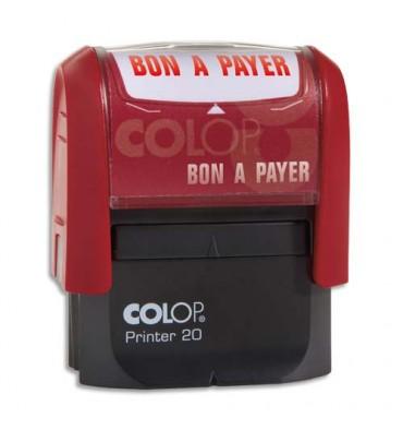 COLOP Timbre à encrage automatique BON A PAYER, empreinte rouge 38 x 14 mm