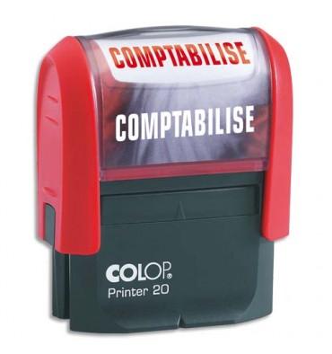 COLOP Timbre à encrage automatique COMPTABILISE, empreinte rouge 38 x 14 mm