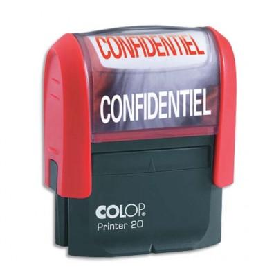 COLOP Timbre à encrage automatique CONFIDENTIEL, empreinte rouge 38 x 14 mm