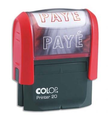 COLOP Timbre à encrage automatique PAYE, empreinte rouge 38 x 14 mm