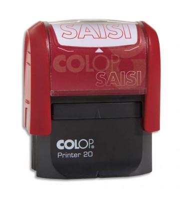 COLOP Timbre à encrage automatique SAISIE, empreinte rouge 38 x 14 mm