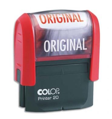 COLOP Timbre à encrage automatique ORIGINAL, empreinte rouge 38 x 14 mm