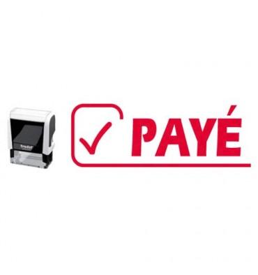 TRODAT Timbre formule PAYE - X-print à encrage automatique Rouge. Dimensions empreinte 45 x 16 mm