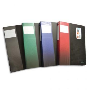 ELBA Protège-documents STAND UP, format A4, 80 vues, 40 pochettes, coloris noir, coloris étiquette assortis