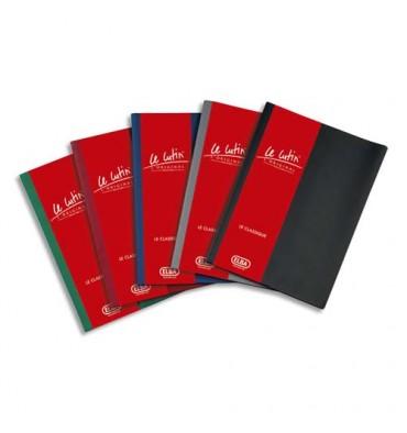 ELBA Protège-documents 60 vues noir Le Lutin, couverture PVC 34/100e, pochettes PVC 5,5/100e