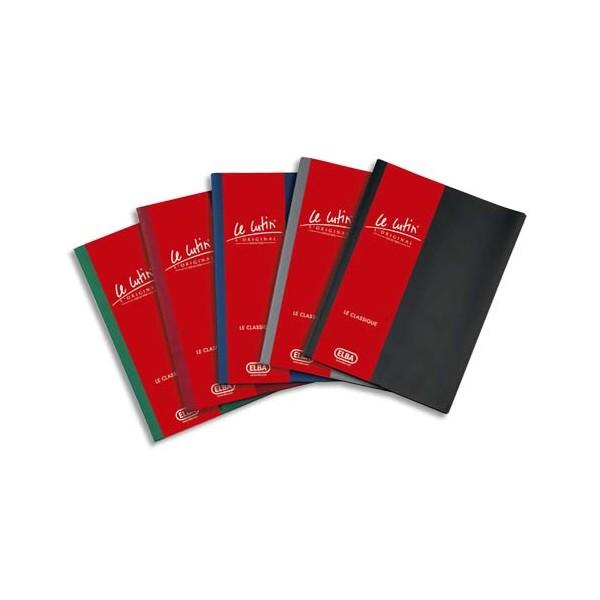 OXFORD Protège-documents Le Lutin avec poche de rangement, 60 vues, 30 pochettes, coloris noir
