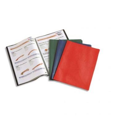 ELBA Protège-documents 40 vues 20 pochettes Hunter, couverture en PVC 34/100e, pochettes en polypropylène 6/100e assortis