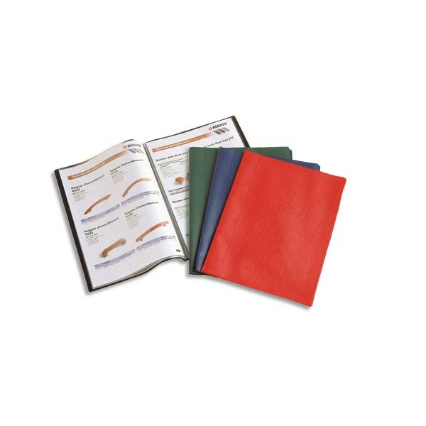 OXFORD Protège-documents 40 vues 20 pochettes Hunter, couverture en PVC noir