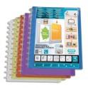 ELBA Protège-documents en polypropylène à pochettes amovibles Vario Zip 40 vues couleurs assorties