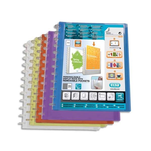 OXFORD Protège-documents à pochettes amovibles VARIO ZIP 40 vues, coloris bleu