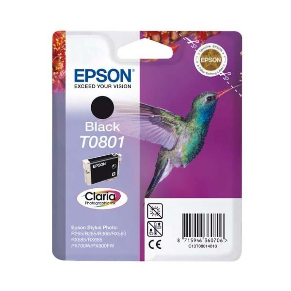 EPSON Cartouche jet d'encre noir T0801