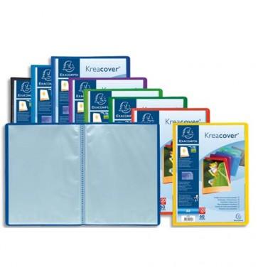 EXACOMPTA Protège-documents Kreacover, personnalisable, polypropylène, 120 vues 60 pochettes, assortis