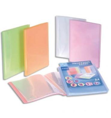VIQUEL 10 protège-documents personnalisable 80 vues, 40 pochettes Propysoft coloris assortis