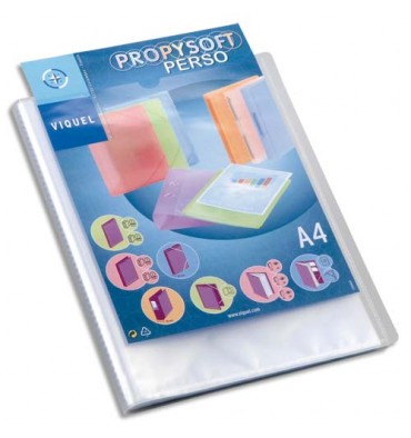VIQUEL Protège-documents personnalisable 40 vues, 20 pochettes Propysoft incolore
