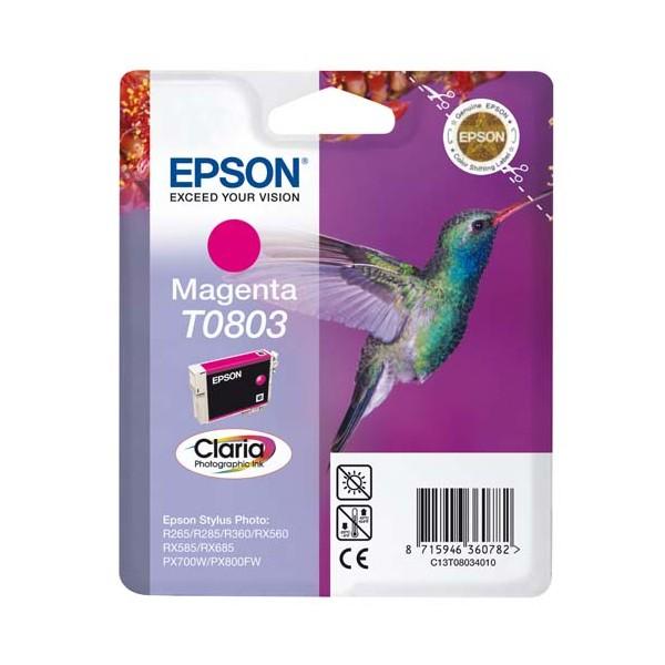 EPSON Cartouche jet d'encre magenta T0803