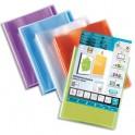 OXFORD Protège-documents personnalisable Transparence 200 vues, 100 pochettes, coloris assortis
