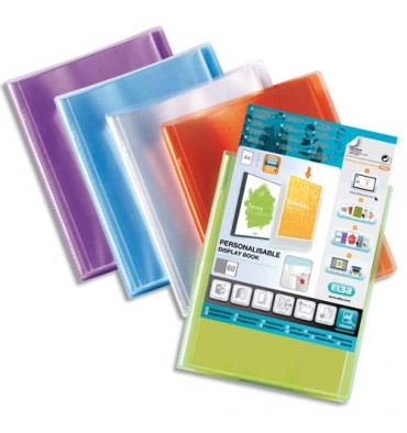 ELBA Protège-documents personnalisable Transparence 200 vues, 100 pochettes. Coloris assortis