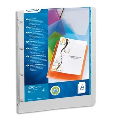 ELBA Classeur personnalisable POLYVISION, format A4, Polypropylène 5/10e dos 2 cm, coloris incolore