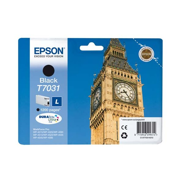 EPSON Cartouche jet d'encre noir L T7031