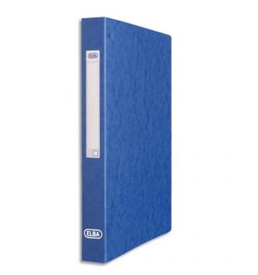 ELBA Classeur en carte grainée 7/10e à 2 anneaux de 25 mm dos 3,5 cm coloris bleu