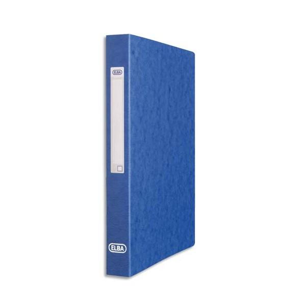 OXFORD Classeur en carte grainée 7/10e à 2 anneaux de 25 mm dos 3,5 cm coloris bleu
