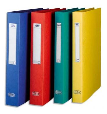 ELBA Classeur en carte grainée 7/10e à 2 anneaux de 25 mm dos 3,5 cm coloris assortis
