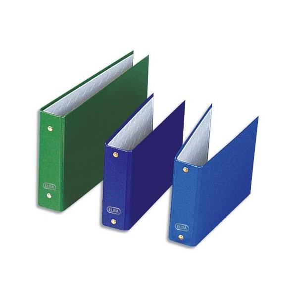 ELBA Classeurs à fiches format A6 à 2 anneaux de 25 mm en balacron coloris assortis