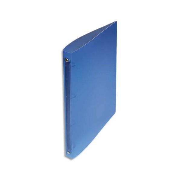 NEUTRE Classeur 4 anneaux polypropylène dos 2 cm Bleu translucide