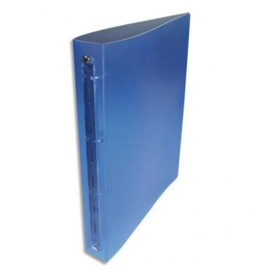 NEUTRE Classeur 4 anneaux polypropylène dos 4 cm Bleu translucide