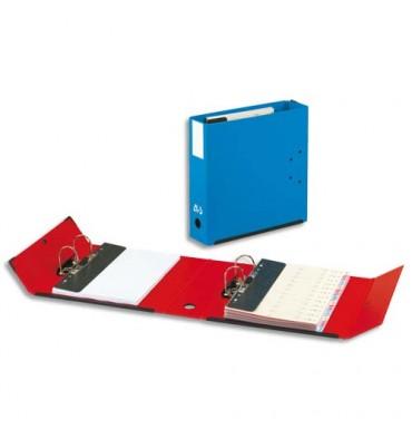 ARIANEX Classeur à deux leviers en carton fort intérieur et extérieur bleu, dos de 9,5 cm mécanismes amovibles