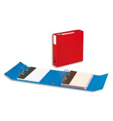 ARIANEX Classeur à 2 leviers en carton fort intérieur et extérieur rouge, dos de 9,5 cm avec mécanismes fixes