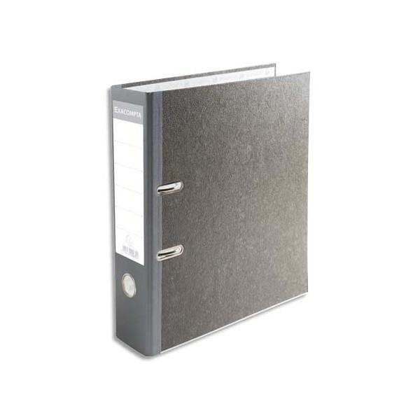 EXACOMPTA Classeur à levier en carton gris avec perforateur dos de 7 cm