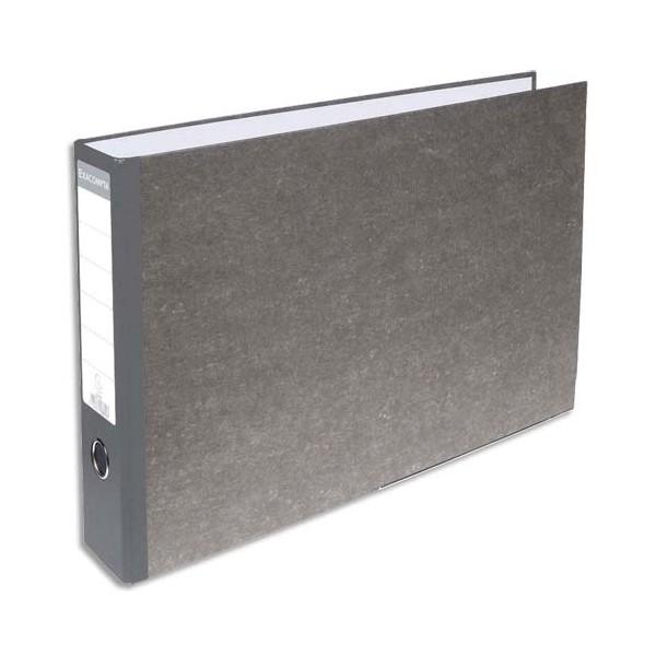 EXACOMPTA Classeur à levier en carton gris A4 à l'italienne dos 70 mm