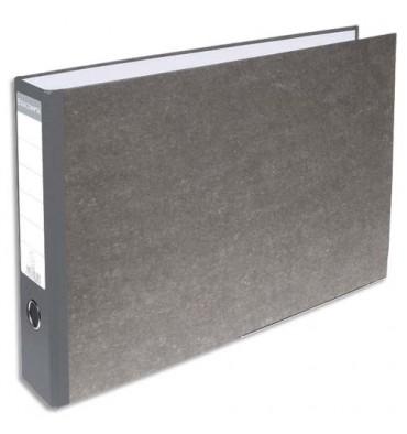 EXACOMPTA Classeur à levier en carton gris A3 à l'italienne dos 70 mm