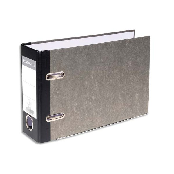 EXACOMPTA Classeur à levier en carton gris dos de 70 mm format A5 à l'italienne