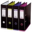 OXFORD Classeurs à levier My Colour recouvert de polypropylène dos 8 cm coloris noir assortis