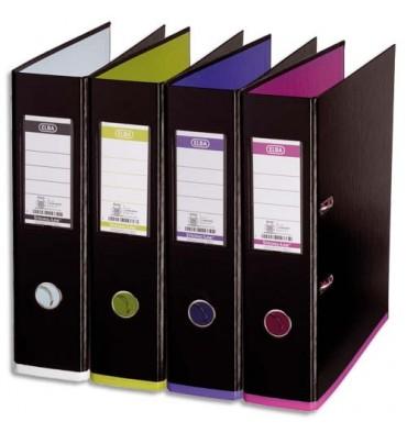 ELBA Classeurs à levier My Colour recouvert de polypropylène dos 8 cm coloris noir assortis