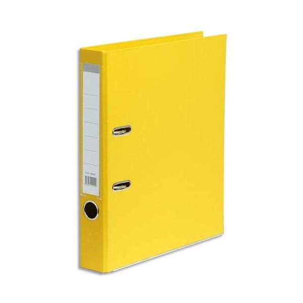 5 ETOILES Classeur à levier en polypropylène dos de 5 cm jaune
