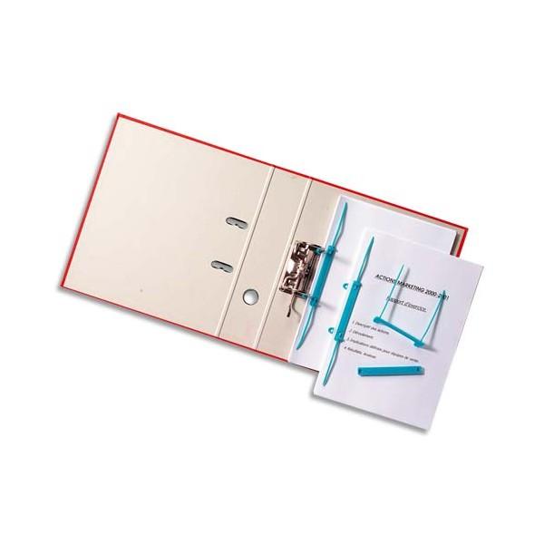 ACCO Boîte de 50 attaches à relier avec perforations Capiclass B avec poignée de transfert bleu